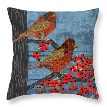 Throw Pillow featuring the digital art Sagebrush Sparrow Short by Kim Prowse