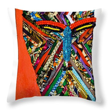 Quilted Warrior Throw Pillow
