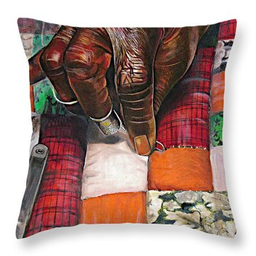 African American Artist Throw Pillows