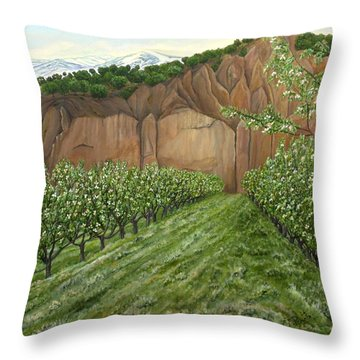Quince Trees Throw Pillow