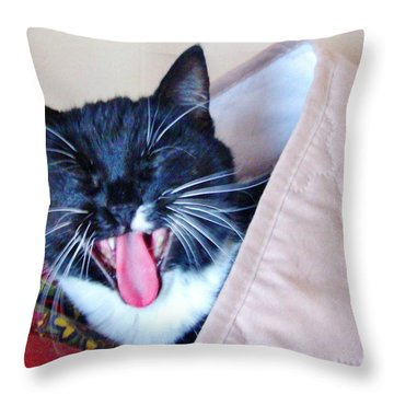 Quite I Am Sleeping Throw Pillow