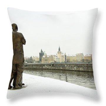 Quite Prayer Throw Pillow