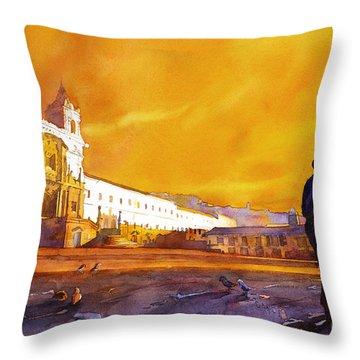 Quito Sunrise Throw Pillow
