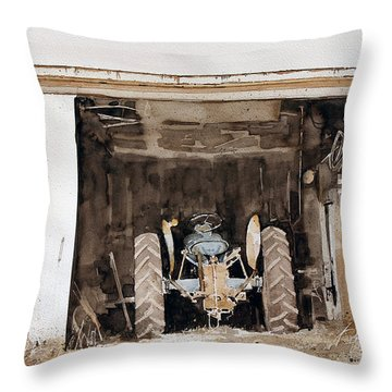 Quitting Time Throw Pillow by Monte Toon