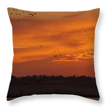 Quivira Sunset 1 Throw Pillow by Rob Graham