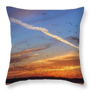 Quivira Sunset 2 Throw Pillow by Rob Graham