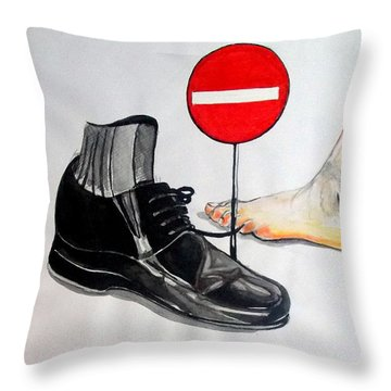 Throw Pillow featuring the painting Quo Vadis by Lazaro Hurtado