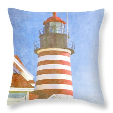 Quoddy Lighthouse Lubec Maine Throw Pillow