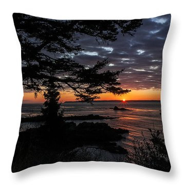 Quoddy Sunrise Throw Pillow by Marty Saccone