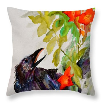 Quoi Throw Pillow by Beverley Harper Tinsley