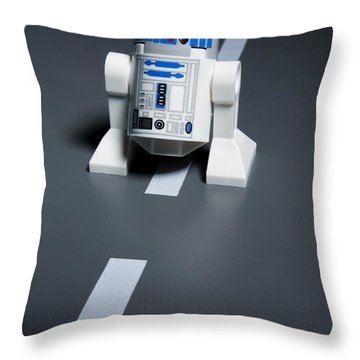 R2-d2 Throw Pillow by Samuel Whitton