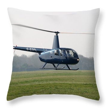 R44 Raven Helicopter Throw Pillow