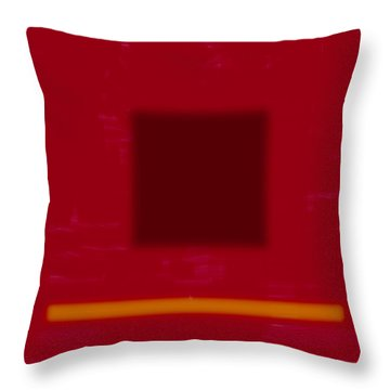 Color Field With Dark Square Throw Pillow
