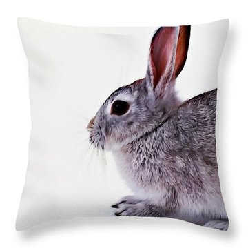 Rabbit 1 Throw Pillow by Lanjee Chee