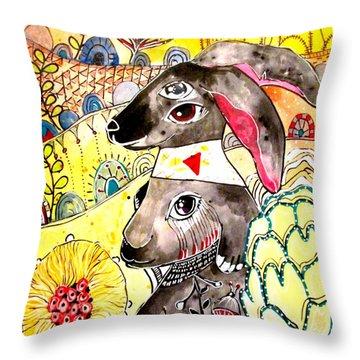 Rabbit 2 Throw Pillow