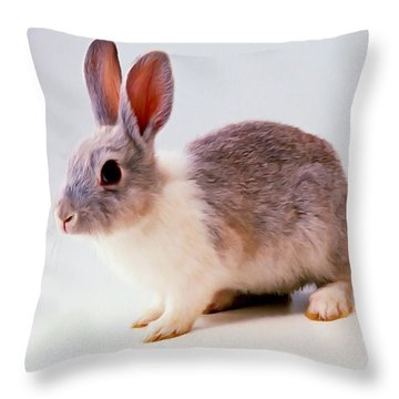 Rabbit 2 Throw Pillow by Lanjee Chee