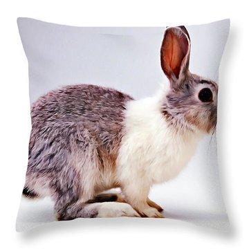 Rabbit  3 Throw Pillow by Lanjee Chee