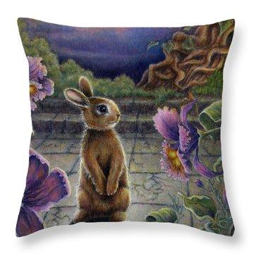 Rabbit Dreams Throw Pillow