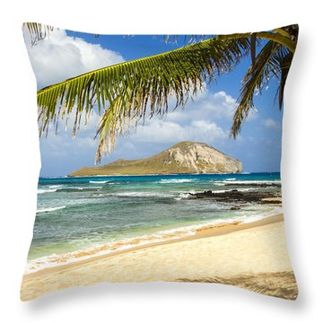 Rabbit Island 1 Throw Pillow