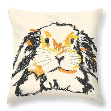 Rabbit Jon Throw Pillow