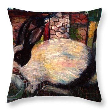 Rabbit Talk Throw Pillow
