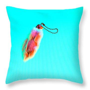 Rabbit's Foot Keychain Throw Pillow
