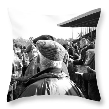 Race Day Throw Pillow by Suzanne Oesterling
