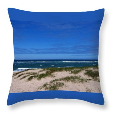 Race Point Beach Throw Pillow by Catherine Gagne