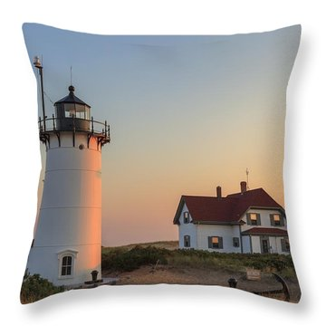 Race Point Lighthouse Throw Pillow by Bill Wakeley