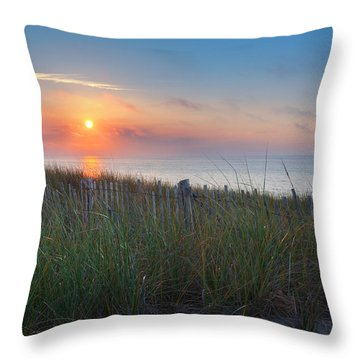 Race Point Sunset Throw Pillow by Bill Wakeley