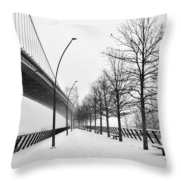 Race Street Pier 2 Throw Pillow