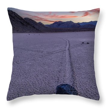 Race Track Death Valley Throw Pillow by Jerry Fornarotto