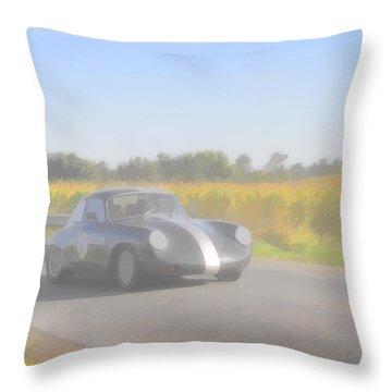 Racer Porsch 356 Throw Pillow by Jack R Perry