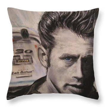 Racers Road - Final Ride Throw Pillow by Eric Dee