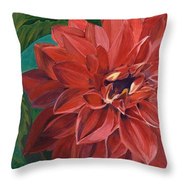 Rachael's Dahlia Throw Pillow