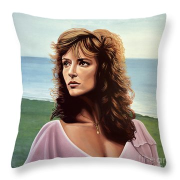 Rachel Ward Throw Pillow