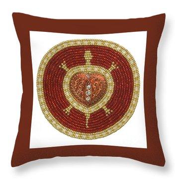 Bw's Red Heart Turtle Throw Pillow