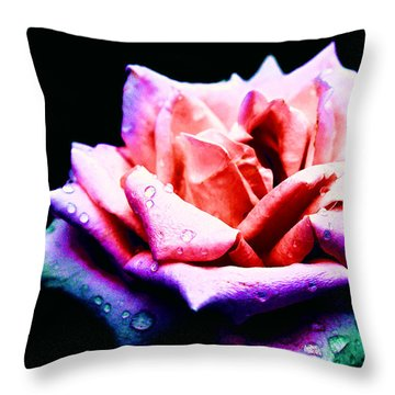 Rachel's Rose Throw Pillow by Rachel Mirror