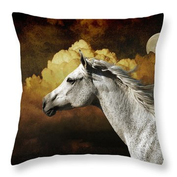 Racing The Moon Throw Pillow