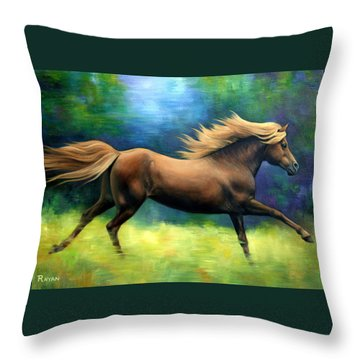 Racing  The Wind Throw Pillow