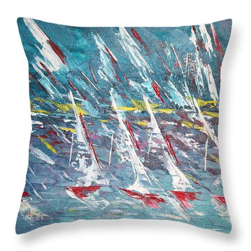 Racing To The Limits - Sold Throw Pillow