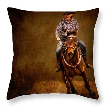 Racing To Win Throw Pillow
