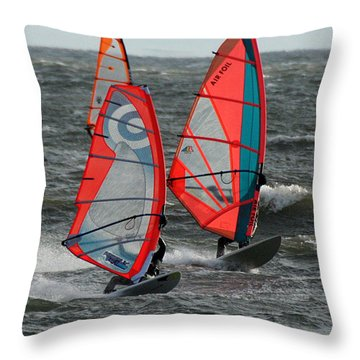 Racing With Wind Throw Pillow