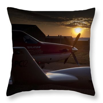 Radar Wing Throw Pillow by Paul Job