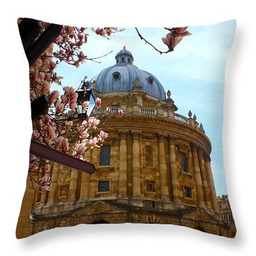 Radcliffe Camera Bodleian Library Oxford  Throw Pillow by Terri Waters