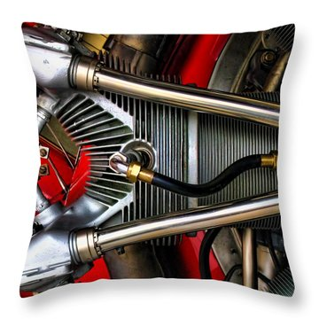 Radial Engine Throw Pillow