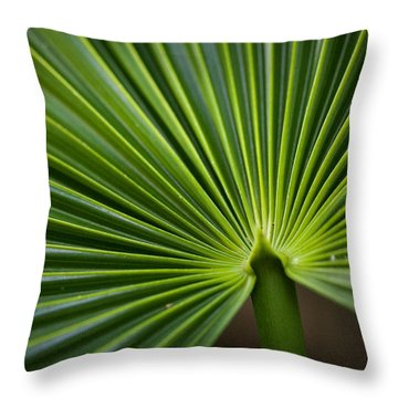 Radial Greens Throw Pillow