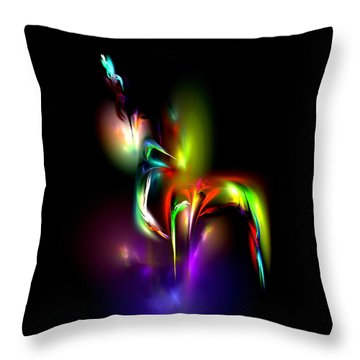 Throw Pillow featuring the digital art Radiance by Pete Trenholm