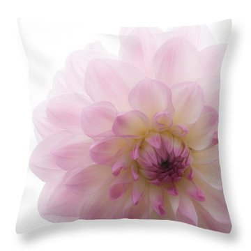 Radiant Bloom Throw Pillow