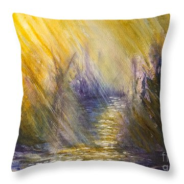 Radiant Hope Throw Pillow